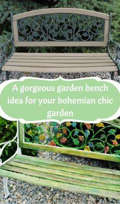 A Gorgeous Garden Bench Idea For Your Bohemian Chic Garden