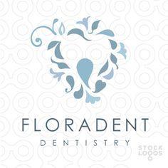 Floradent - dentist / dentistry logo