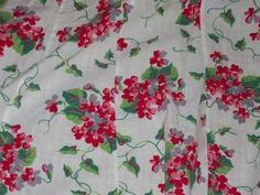 vintage cottage geraniums apron wow