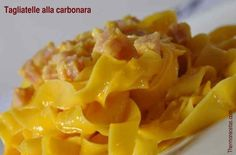 Tagliatelle a la carbonara. #tagliatelle #recetas #thermomix #pasta