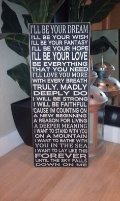 24x11 Savage Garden Truly Madly Deeply Love Song Wood Sign. Great Gift Idea. You can change the words and colors to customize. on Etsy, $45.00