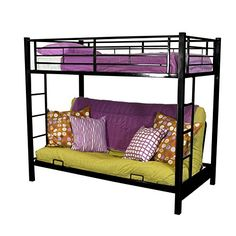 Sturdy Metal Twin-over-Futon Bunk Bed in Black Finish Home Accent Furnishings http://www.amazon.com/dp/B00AVAU3FG/ref=cm_sw_r_pi_dp_xpPgwb187JC74