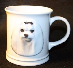 Xpres Best Friend Originals 3-D Maltese White Coffee Mug Dog Puppy Coffee Cup