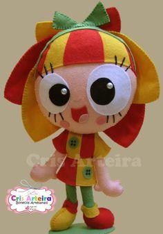 Boneca Emília de feltro.