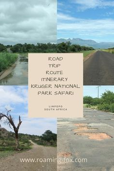 Limpopo road trip route plus itinerary and Kruger National Park safari. Combination of full amenities and off the grid campsites. #KrugerNationalPark #Limpopo #SouthAfrica #roadtrip #safari #itinerary #route #caravan #offroad #offthegrid #camping #poweredsites Kruger National Park Safari, Travel Around The World, Around The Worlds, Campsite, South Africa, Travel Inspiration, Road Trip, Adventure, Camping