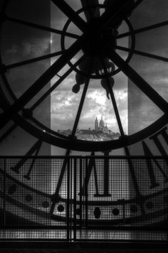 the clock in the musee d'Orsay, Paris