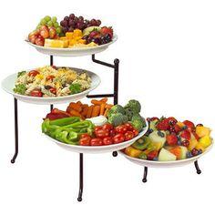 creative bath 2 tier buffet server with 2 platters things that rh pinterest com