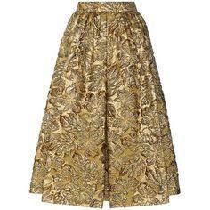 Prada Metallic Cloqué Jacquard Skirt ($2,385) ❤ liked on Polyvore featuring skirts, gold, prada, metallic skirt, jacquard skirt, brown skirt and prada skirt