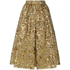 Prada Metallic Cloqué Jacquard Skirt (127,305 MKD) ❤ liked on Polyvore featuring skirts, gonne, gold, prada, prada skirt, brown skirt, metallic jacquard skirt and metallic skirts