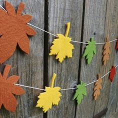 Made this seasonal fall leaf garland. Autumn seems to have well and truly arrived in the Northeast of England