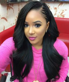 Virgin Human Hair Brazilian Hair Bundles,Weave With Closure Tree Braids Hairstyles, Long Weave Hairstyles, Straight Hairstyles, Girl Hairstyles, Crotchet Braids Hairstyles, Stylish Hairstyles, Hairstyles 2018, Hairdos, Love Hair