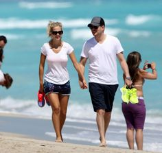 Michael Bublé Takes Luisana and Her Baby Boy Bump For a Sandy Stroll | Photos