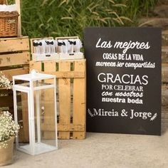 Frases de agradecimiento We have the best words of thanks for your wedding day Weeding Themes, Wedding Planer, Chalkboard Wedding, Ideas Para Fiestas, Marry You, Just Married, Holidays And Events, Wedding Signs, Just In Case