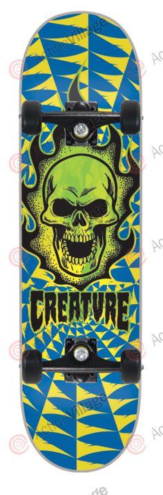 Creature Boneheadzzz Mini - 7.4in x 27.6in - Complete Skateboard - Creature - Complete Skateboards - Skate $64.95