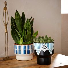 Handcrafted and hand painted in Peru, these incredibly detailed planters are a beautiful way to show off your favorite plants.