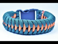 """How to make the """"Dragon Teeth"""" Paracord Survival Bracelet - Bored Paracord - YouTube"""