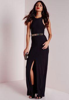 Bariano belinda black lace maxi dress