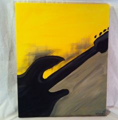 Yellow and black guitar