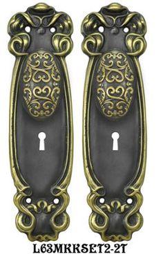 Industrious Ornate Antique Door Thumb Latch Hand Forged Iron Door Handle Door Knobs & Handles