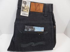 Nudie Jeans Thin Finn Dry Dark Grey W32 L32 Made in Italy Sweden Designer #145 #NudieJeans #Readfitguide