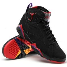 check out 72568 bd9f7 Nike Men s Air Jordan VII 7 Raptor basketball shoes , Black, D(M)