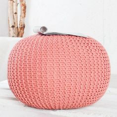 This is a default index page for a new domain. Crochet Pouf, Knitted Pouf, Pouf Design, Chair Design, Hygge Home, Interior Decorating, Interior Design, Foot Rest, Scandinavian Style