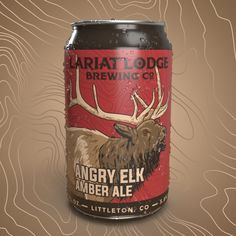 hi-five design, amber ale beer label design, beer label, cool beer label, modern beer label, elk beer label, amber ale beer label, amber beer label, ipa beer label, micro brewing, micro brewery
