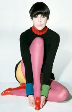 Photo by William Claxton (b. 1927), 1971, Peggy Moffitt modeling Rudi Gernreich design.