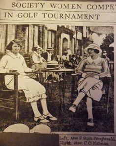 Zelda Fitzgerald and a close friend Xandra Kalman in 1922.