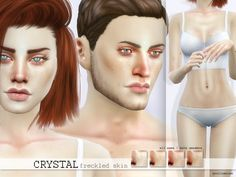 Sims 4 CC's - The Best: Freckled Skin by Pralinesims