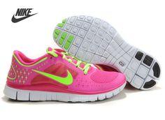Nike Free Run 3 Femme Rouge Vert Chaussures France