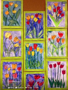 54 Ideas spring art projects for middle school mothers Spring Arts And Crafts, Spring Art Projects, Classroom Art Projects, Art Classroom, Art Floral, Art 2nd Grade, Club D'art, Classe D'art, Easter Art