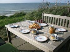 Terrasse am Meer beim Ferienhaus Blankes in Löcken/Jammerbucht Nordjütland, Dänemark