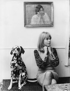 vintage everyday: 33 Adorable Vintage Photos of Celebrities Posing With Their Pet Dogs
