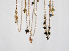 Goldketten - Goldkette mit Süsswasserperlen und Brillantperlen - ein Designerstück von KatjaGold bei DaWanda