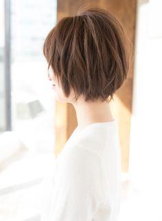 アンニュイなニュアンスカールショートボブ(髪型ショートヘア)