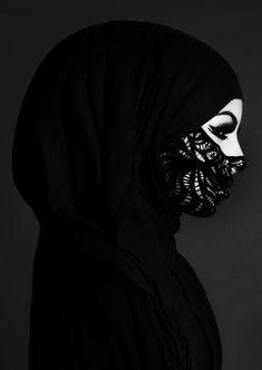 Even if you're a niqabi who wears all black, you can still spice up your Eid ensemble with subtle changes.  Lace is so beautiful and elegant.  Note: Add a second layer of lace to conceal your face. - Habiba West