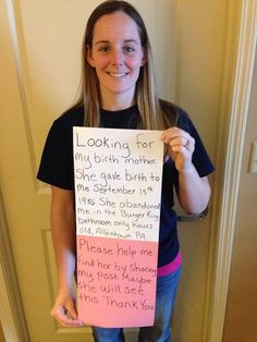 27 Years Later, This Girl Wants to Know Her Birth Mother and YOU can Help Her!