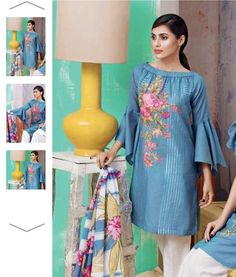 Pakistani Suits For All Occasions – Fashion Asia Sleeves Designs For Dresses, Dress Neck Designs, Pakistani Dress Design, Pakistani Outfits, Casual Dresses, Fashion Dresses, Summer Dresses, Casual Wear, Women's Fashion