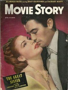 Vintagemoviemagazines: Ava Gardner and Gregory Peck - Movie Story - June 1949