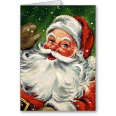 Found a whole bunch of vintage Santa Claus cards. Vintage Christmas Cards, Retro Christmas, Christmas Art, Vintage Cards, Holiday Cards, Christmas Holidays, Christmas Stuff, Cottage Christmas, Christmas Canvas
