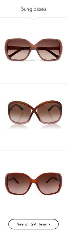"""""""Sunglasses"""" by chacharito on Polyvore featuring accessories, eyewear, sunglasses, moschino sunglasses, logo sunglasses, logo glasses, oversized glasses, oval glasses, red と red glasses"""