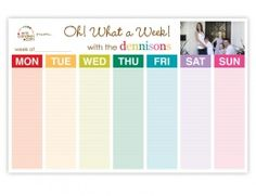 Erin Condren weekly schedule pad- oh! what a week! While the Monthly calendar is nice at a glance & helps with long term plans, the WEEKLY schedule pad has become a NECESSITY for the daily ongoings with my busy family of Weekly Schedule, Weekly Planner, Family Planner, Weekly Calendar, Family Calendar, Certificate Programs, Rn Programs, Nursing Programs, Nursing Career