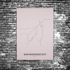 San Francisco C8 - Acrylic Glass Art Subway Maps (Acrylglas, Underground)