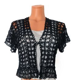 Hey, I found this really awesome Etsy listing at https://www.etsy.com/listing/155537190/hairpin-lace-crochet-black-bolero-jacket