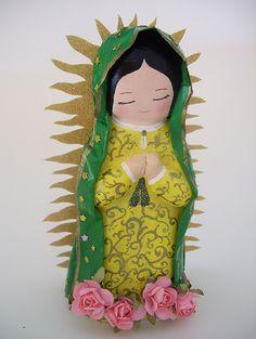Virgencita de Papel Mache | Visita mi pagina en FB www.faceb… | Flickr