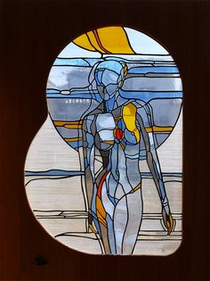 "Stained glass panel ""Beating"" More"