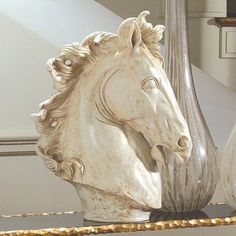 The Well Appointed House Global Views Horse Head Sculpture - ShopStyle Decor Horse Sculpture, Animal Sculptures, Horse Head, Horse Art, Art Decor, Decoration, Equine Art, Sculpting, Horses