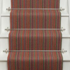 Woven and hand finished in the UK using traditional techniques. Types Of Flooring, Carpet Stairs, Carpet Runner, Kobe, Lanterns, Vibrant Colors, Runners, Rugs, House Styles