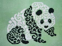 Tribal Panda - Cross Stitch Pattern - has place to order it - plus has an elephant cross stitch